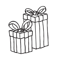 Gift box icon on a white background vector