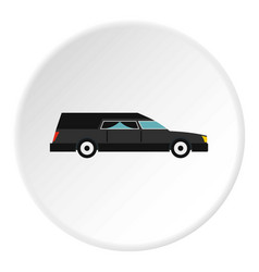 Hearse icon circle vector