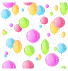 Holiday pattern with colorful balloons vector image