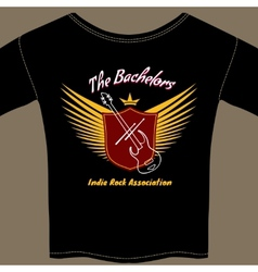 Indie rock t-shirt vector image vector image