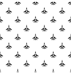 Jet fighter plane pattern simple style vector