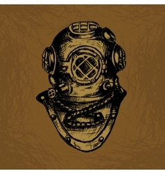 old diver vector image