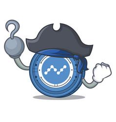 Pirate nano coin character cartoon vector