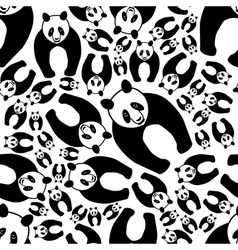 Seamless panda pattern vector