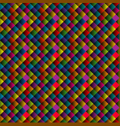 seamless pattern with colorful rhomboid shapes vector image