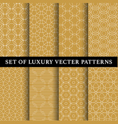set of abstract line patterns vector image vector image