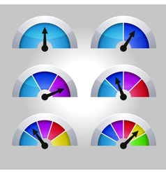 Set of indicators diagram vector image vector image