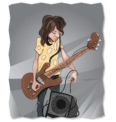 Struggling tangled musician vector