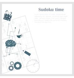 Sudoku background vector