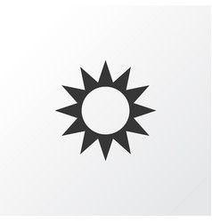 Sun icon symbol premium quality isolated sunny vector