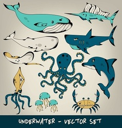 Underwater Set vector image