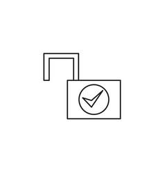 Unlocked lockpad icon vector