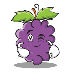 Wink grape character cartoon collection vector