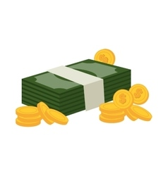 Bill money isolated icon vector