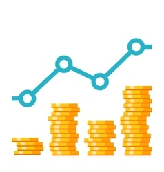Growth investment concept vector