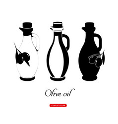 Graphic olive oil concept vector