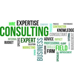 Word cloud consulting vector
