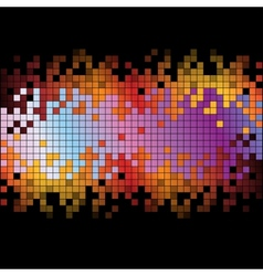 Abstract background with rainbow colorful pixels vector