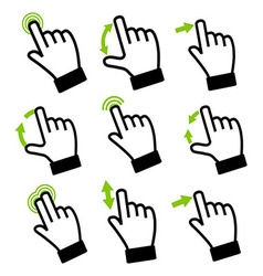 Touch gestures vector