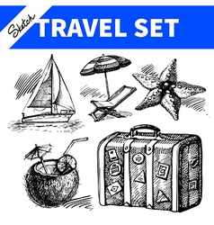 Travel and holiday set vector