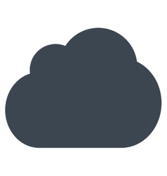 Cloud flat smooth blue color icon vector
