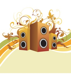 Musical graphic background vector