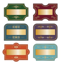 Decorative labels vector