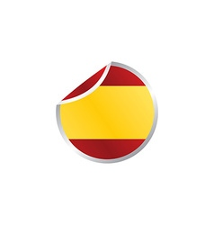 Glossy theme spain national flag vector