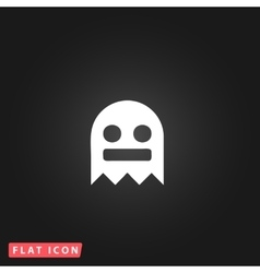 Kawaii cute ghost vector