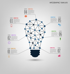 Info graphic with design abstract light bulb vector
