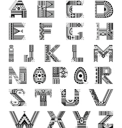 Alphabet Ethnic Ornamental vector image