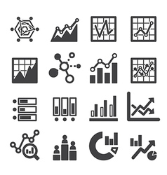 Analytics icon set vector