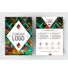 Brochure corporate blank template vector image
