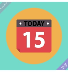 Calendar Icon - Flat design vector image