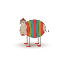 Cartoon funny sheep vector