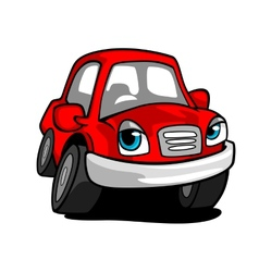 Cartoon red car vector image vector image