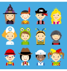 children dressed avatar vector image vector image