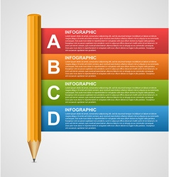 Creative education infographics template with vector