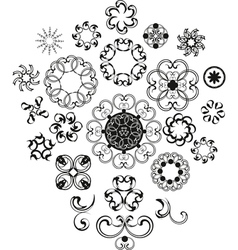 Decorative Vintage Flower Set vector image