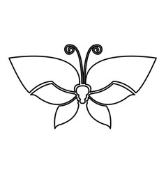 Figure butterfly with tricolor wings icon vector