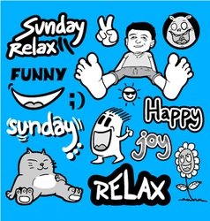 Funny relax set collection vector image