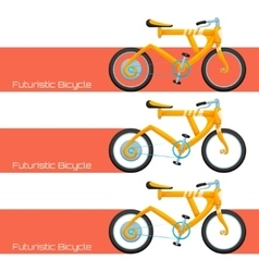Futuristic Bicycle and Banner vector image