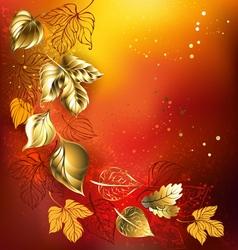 Golden Autumn Leaves vector image