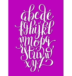 hand lettering alphabet design handwritten brush vector image vector image