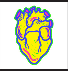 Heart modern element vector