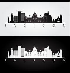 Jackson usa skyline and landmarks silhouette vector