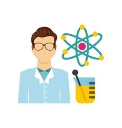 laboratory equipment set line icons vector image