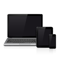 Laptop tablet pc computer and mobile smartphone vector image vector image