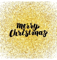 Merry Christmas Gold Greeting Card vector image