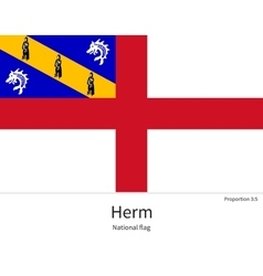 National flag of herm with correct proportions vector